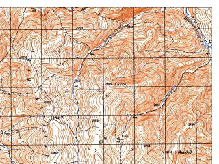 Reduced fragment of topographic map ru--gs--050k--i42-029-2--N035-20_E068-15--N035-10_E068-30