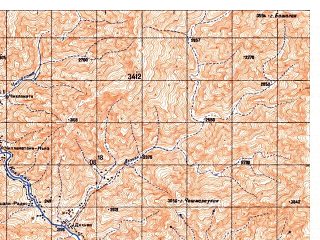Reduced fragment of topographic map ru--gs--050k--i42-031-1--N035-20_E069-00--N035-10_E069-15
