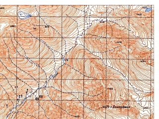 Reduced fragment of topographic map ru--gs--050k--i42-032-4--N035-10_E069-45--N035-00_E070-00
