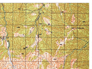 Reduced fragment of topographic map ru--gs--050k--i42-033-3--N035-10_E070-00--N035-00_E070-15