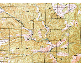 Reduced fragment of topographic map ru--gs--050k--i42-035-3--N035-10_E071-00--N035-00_E071-15