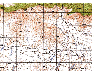 Reduced fragment of topographic map ru--gs--050k--i42-043-2--N035-00_E069-15--N034-50_E069-30