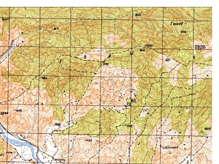Reduced fragment of topographic map ru--gs--050k--i42-046-2--N035-00_E070-45--N034-50_E071-00