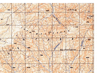 Reduced fragment of topographic map ru--gs--050k--i42-054-1--N034-40_E068-30--N034-30_E068-45