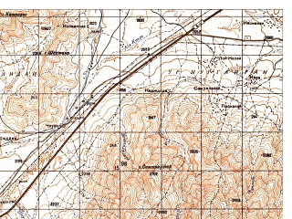 Reduced fragment of topographic map ru--gs--050k--i42-054-4--N034-30_E068-45--N034-20_E069-00