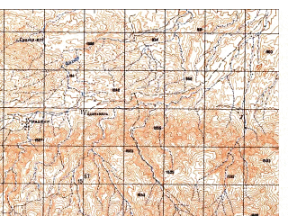 Reduced fragment of topographic map ru--gs--050k--i42-056-4--N034-30_E069-45--N034-20_E070-00