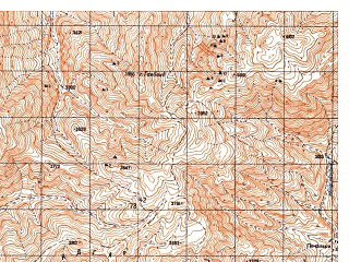 Reduced fragment of topographic map ru--gs--050k--i42-067-4--N034-10_E069-15--N034-00_E069-30