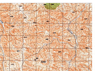 Reduced fragment of topographic map ru--gs--050k--i42-068-4--N034-10_E069-45--N034-00_E070-00
