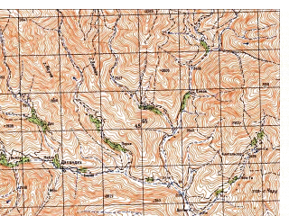 Reduced fragment of topographic map ru--gs--050k--i42-073-4--N033-50_E066-15--N033-40_E066-30