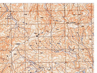 Reduced fragment of topographic map ru--gs--050k--i42-074-2--N034-00_E066-45--N033-50_E067-00