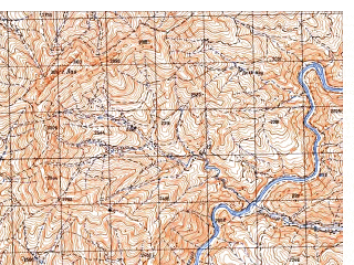 Reduced fragment of topographic map ru--gs--050k--i42-074-4--N033-50_E066-45--N033-40_E067-00