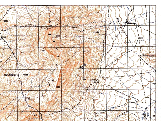 Reduced fragment of topographic map ru--gs--050k--i42-076-3--N033-50_E067-30--N033-40_E067-45