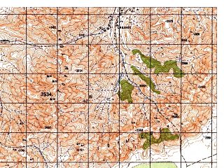 Reduced fragment of topographic map ru--gs--050k--i42-079-3--N033-50_E069-00--N033-40_E069-15