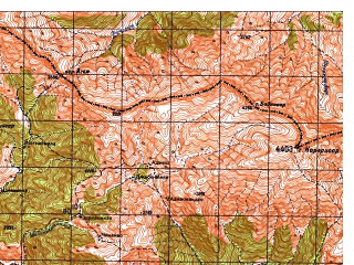 Reduced fragment of topographic map ru--gs--050k--i42-081-1--N034-00_E070-00--N033-50_E070-15