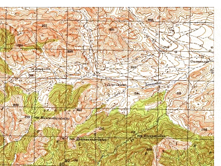 Reduced fragment of topographic map ru--gs--050k--i42-082-2--N034-00_E070-45--N033-50_E071-00