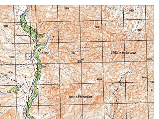 Reduced fragment of topographic map ru--gs--050k--i42-085-3--N033-30_E066-00--N033-20_E066-15