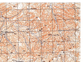 Reduced fragment of topographic map ru--gs--050k--i42-086-2--N033-40_E066-45--N033-30_E067-00