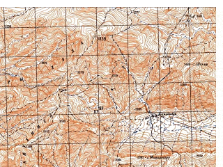 Reduced fragment of topographic map ru--gs--050k--i42-086-3--N033-30_E066-30--N033-20_E066-45