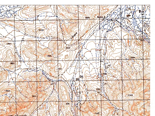 Reduced fragment of topographic map ru--gs--050k--i42-087-3--N033-30_E067-00--N033-20_E067-15