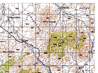 Reduced fragment of topographic map ru--gs--050k--i42-091-2--N033-40_E069-15--N033-30_E069-30