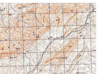 Reduced fragment of topographic map ru--gs--050k--i42-097-3--N033-10_E066-00--N033-00_E066-15