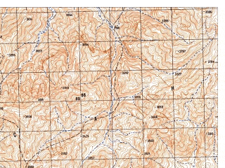 Reduced fragment of topographic map ru--gs--050k--i42-098-1--N033-20_E066-30--N033-10_E066-45