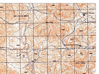 Reduced fragment of topographic map ru--gs--050k--i42-100-1--N033-20_E067-30--N033-10_E067-45