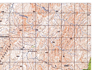 Reduced fragment of topographic map ru--gs--050k--i42-103-1--N033-20_E069-00--N033-10_E069-15