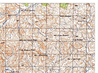 Reduced fragment of topographic map ru--gs--050k--i42-105-3--N033-10_E070-00--N033-00_E070-15