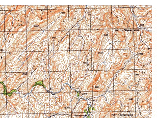 Reduced fragment of topographic map ru--gs--050k--i42-109-4--N032-50_E066-15--N032-40_E066-30