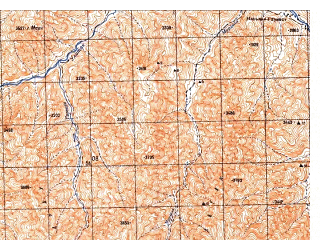 Reduced fragment of topographic map ru--gs--050k--i42-110-2--N033-00_E066-45--N032-50_E067-00