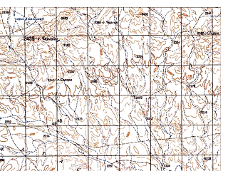 Reduced fragment of topographic map ru--gs--050k--i42-113-2--N033-00_E068-15--N032-50_E068-30