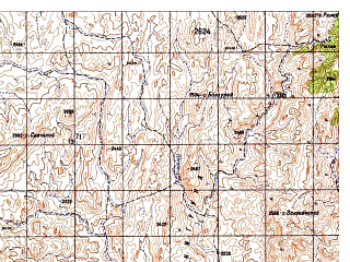 Reduced fragment of topographic map ru--gs--050k--i42-126-1--N032-40_E068-30--N032-30_E068-45
