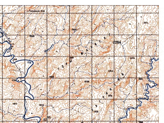 Reduced fragment of topographic map ru--gs--050k--i42-126-4--N032-30_E068-45--N032-20_E069-00