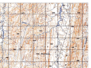 Reduced fragment of topographic map ru--gs--050k--i42-138-1--N032-20_E068-30--N032-10_E068-45