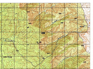 Reduced fragment of topographic map ru--gs--050k--i42-138-4--N032-10_E068-45--N032-00_E069-00; towns and cities Kaza