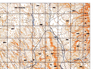 Reduced fragment of topographic map ru--gs--050k--i42-139-1--N032-20_E069-00--N032-10_E069-15