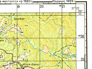 Reduced fragment of topographic map ru--gs--050k--j34-031-3--N039-10_E021-00--N039-00_E021-15