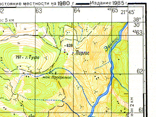 Reduced fragment of topographic map ru--gs--050k--j34-056-3--N038-30_E021-30--N038-20_E021-45