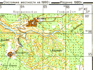 Reduced fragment of topographic map ru--gs--050k--j34-116-1--N037-00_E021-30--N036-50_E021-45