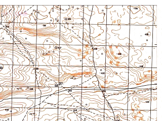 Reduced fragment of topographic map ru--gs--050k--j41-131-1--N036-40_E065-00--N036-30_E065-15
