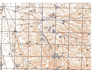 Reduced fragment of topographic map ru--gs--050k--j41-131-3--N036-30_E065-00--N036-20_E065-15