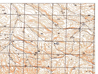 Reduced fragment of topographic map ru--gs--050k--j41-131-4--N036-30_E065-15--N036-20_E065-30