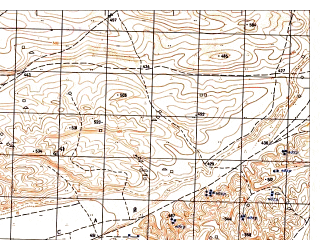 Reduced fragment of topographic map ru--gs--050k--j41-132-3--N036-30_E065-30--N036-20_E065-45