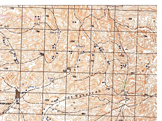 Reduced fragment of topographic map ru--gs--050k--j41-132-4--N036-30_E065-45--N036-20_E066-00