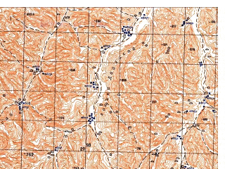 Reduced fragment of topographic map ru--gs--050k--j41-143-1--N036-20_E065-00--N036-10_E065-15