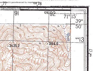 Reduced fragment of topographic map ru--gs--050k--j42-011-3--N039-50_E071-00--N039-40_E071-15