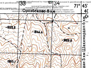 Reduced fragment of topographic map ru--gs--050k--j42-012-1--N040-00_E071-30--N039-50_E071-45