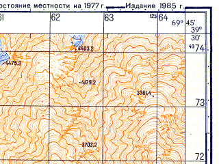 Reduced fragment of topographic map ru--gs--050k--j42-020-3--N039-30_E069-30--N039-20_E069-45