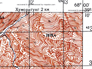 Reduced fragment of topographic map ru--gs--050k--j42-028-4--N039-10_E067-45--N039-00_E068-00
